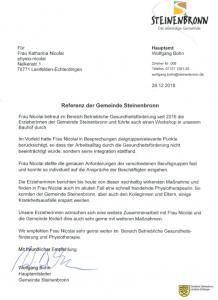 Referenz Gemeinde Steinenbronn